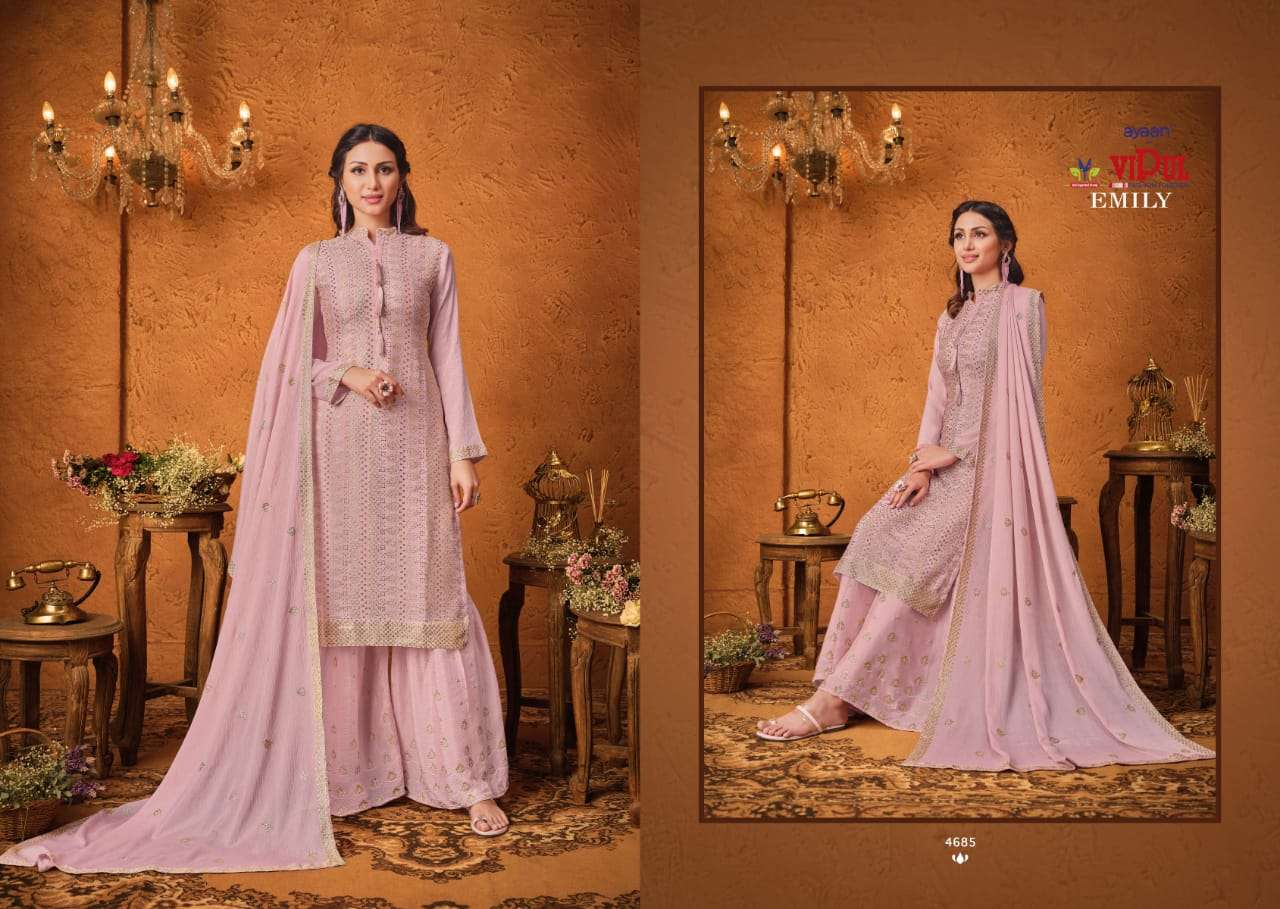 VIPUL EMILY CHINON SEQUENCE WITH HAND WORK SALWAR KAMEEZ COLLECTION 030 6