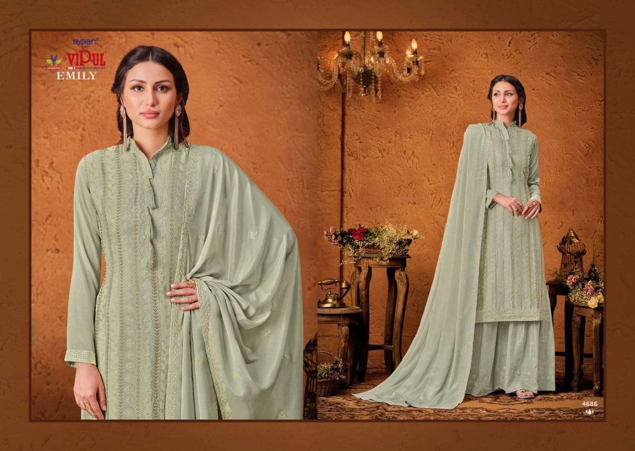 VIPUL EMILY CHINON SEQUENCE WITH HAND WORK SALWAR KAMEEZ COLLECTION 05
