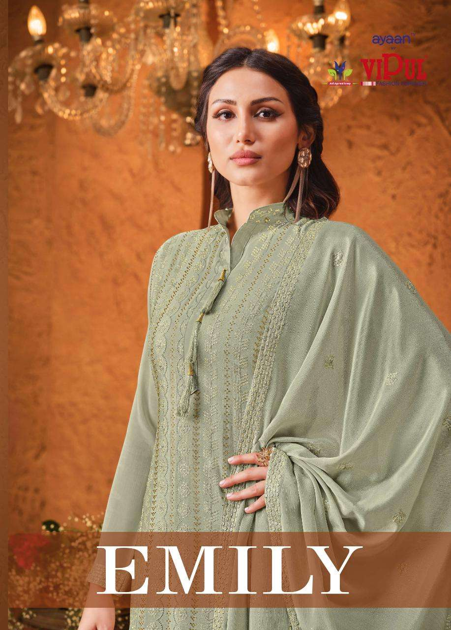 VIPUL EMILY CHINON SEQUENCE WITH HAND WORK SALWAR KAMEEZ COLLECTION