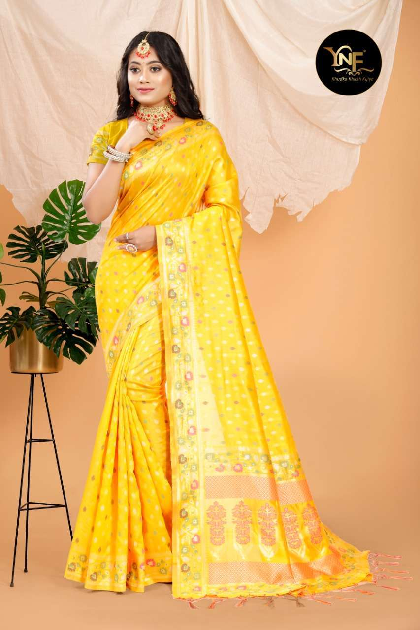 Ynf Pramam Silk Art Silk Woven YELLOW Sarees Collection 06