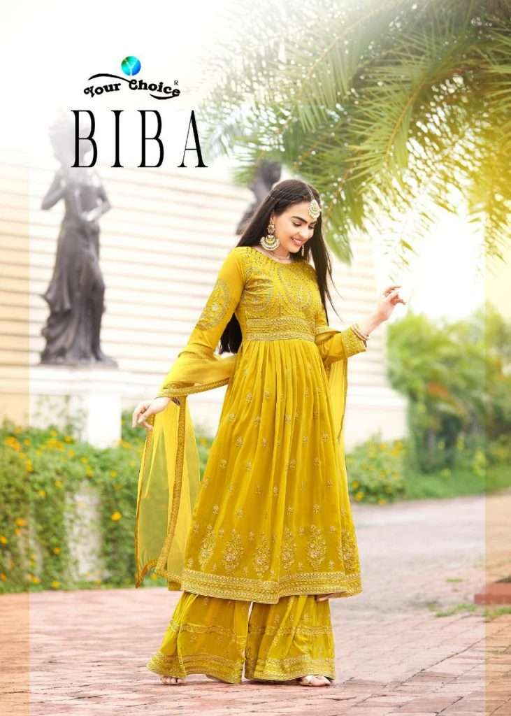 YOUR CHOICE BIBA GEORGETTE WITH EMBROIDERY WORK SALWAR KAMEEZ COLLECTION