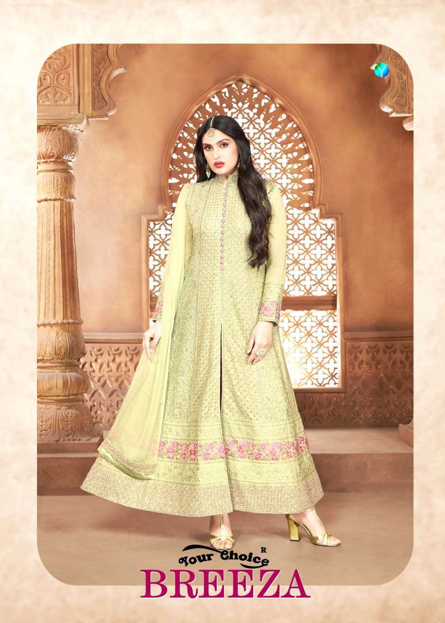 Your Choice Breeza Georgette With Embroidery Work Dress Material collection