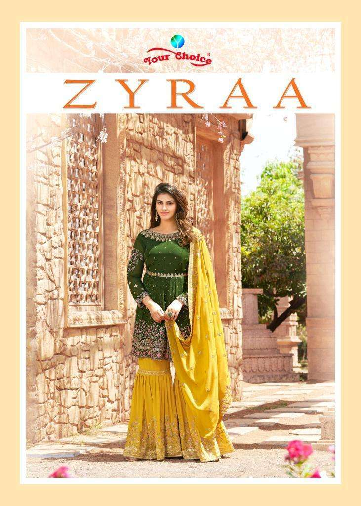 Your Choice Zyraa Blooming Georgette With Embroidery Work Salwar Kameez collection