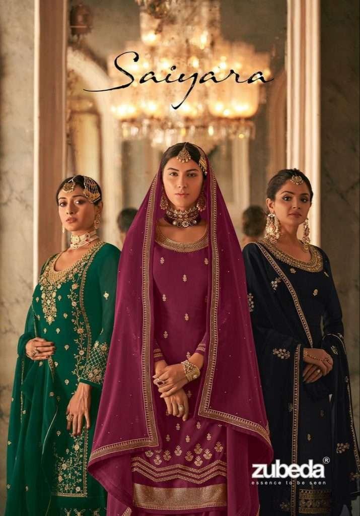 Zubeda Saiyara real Georgette With Embroidery Work Salwar Kameez Collection