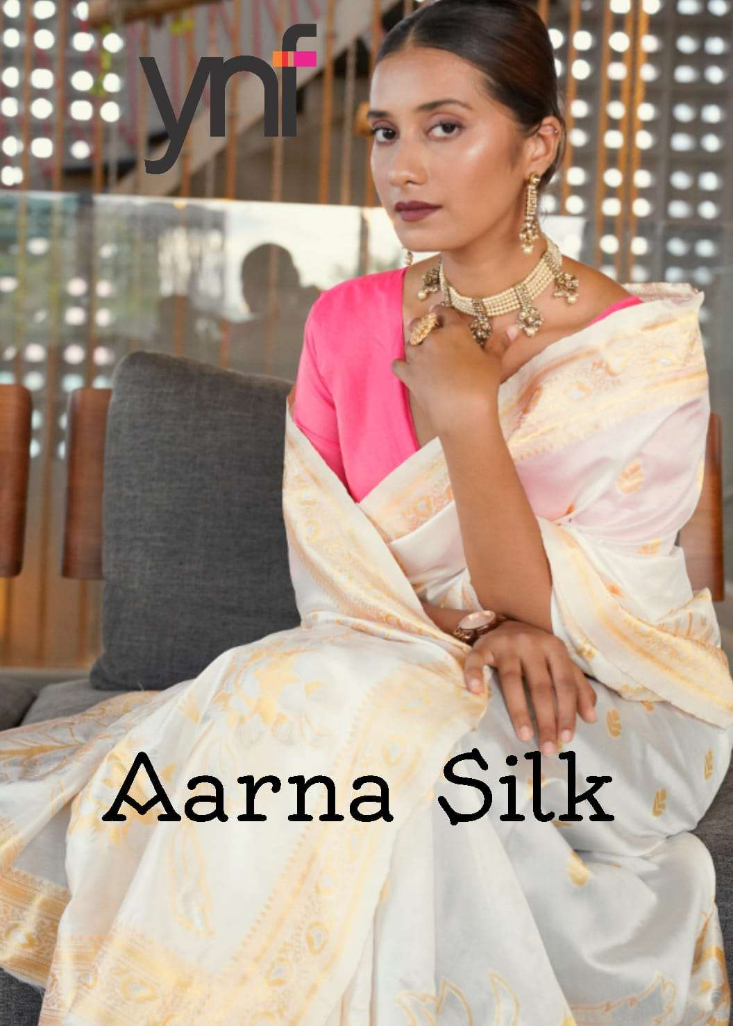 AARNA ART SILK WITH WEAVING DESIGNER TRADITIONAL SAREE COLLECTION