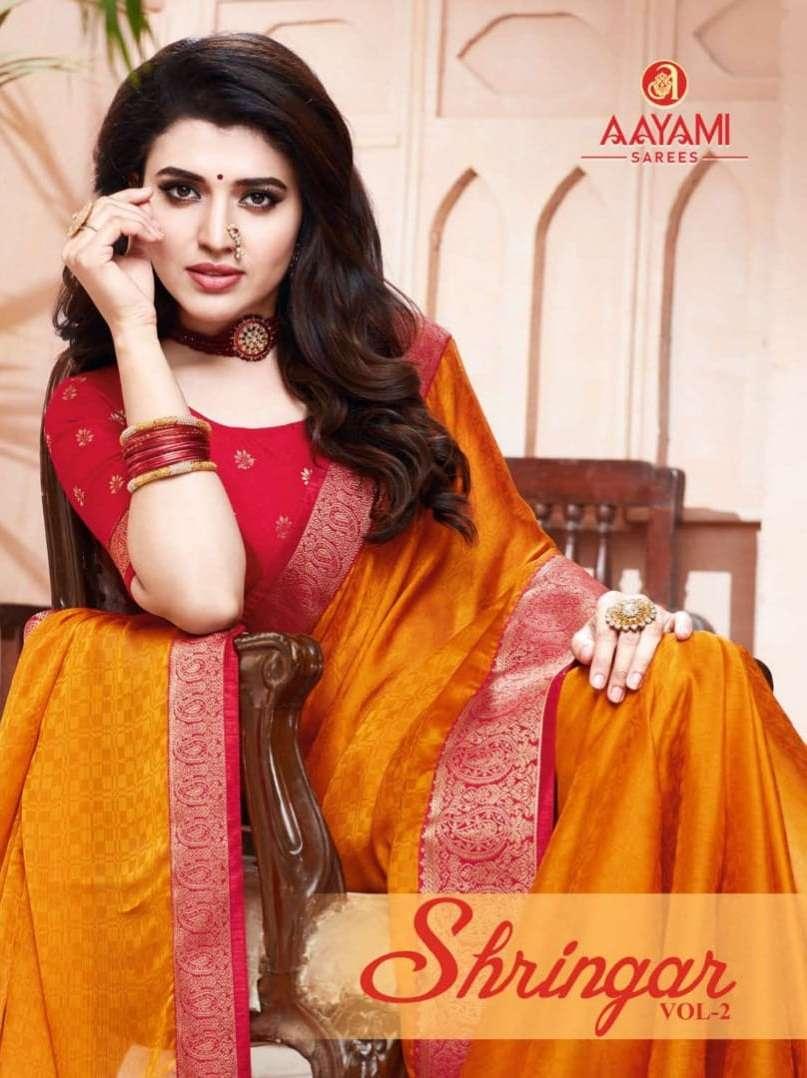 Aayami Shringar Vol 2 Georgette jacquard Sarees collection