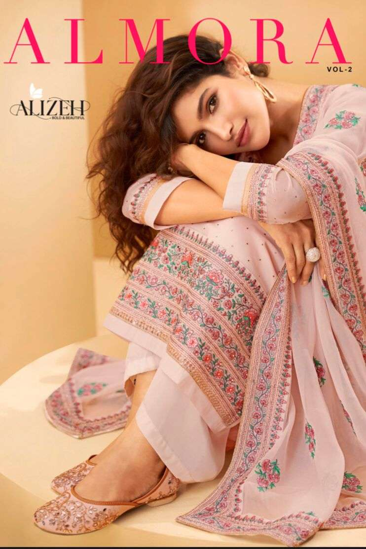 Alizeh Almora Vol 2 Georgette With Embroidery work dress Material Collection