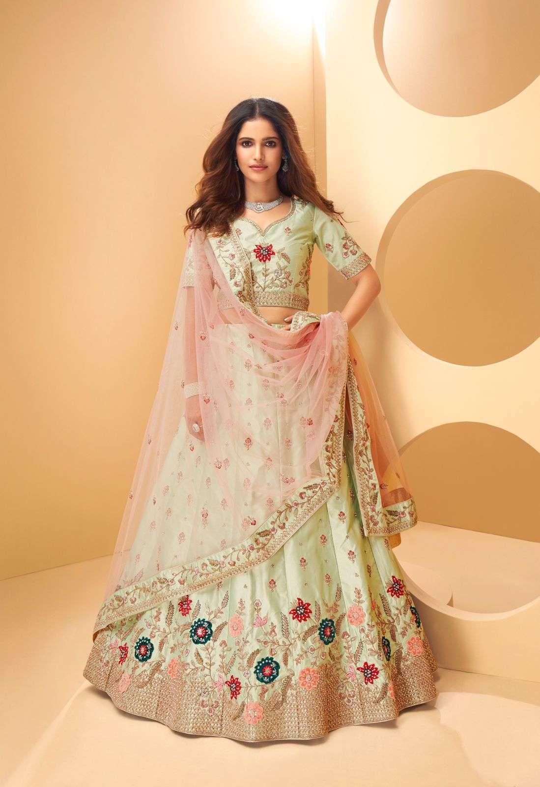 Alizeh Sangeet Vol 2 Silk With Embroidery Thread Work Designer Lehenga Choli Collection  1023
