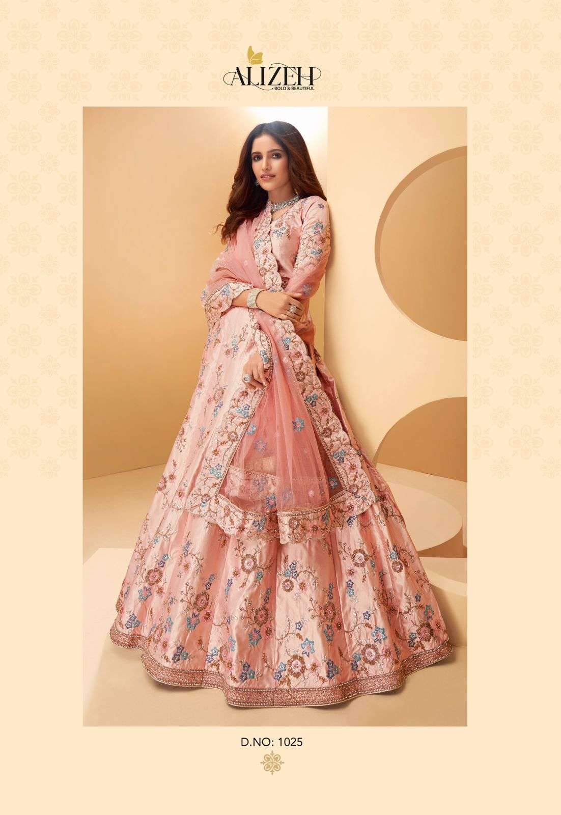 Alizeh Sangeet Vol 2 Silk With Embroidery Thread Work Designer Lehenga Choli Collection  1025
