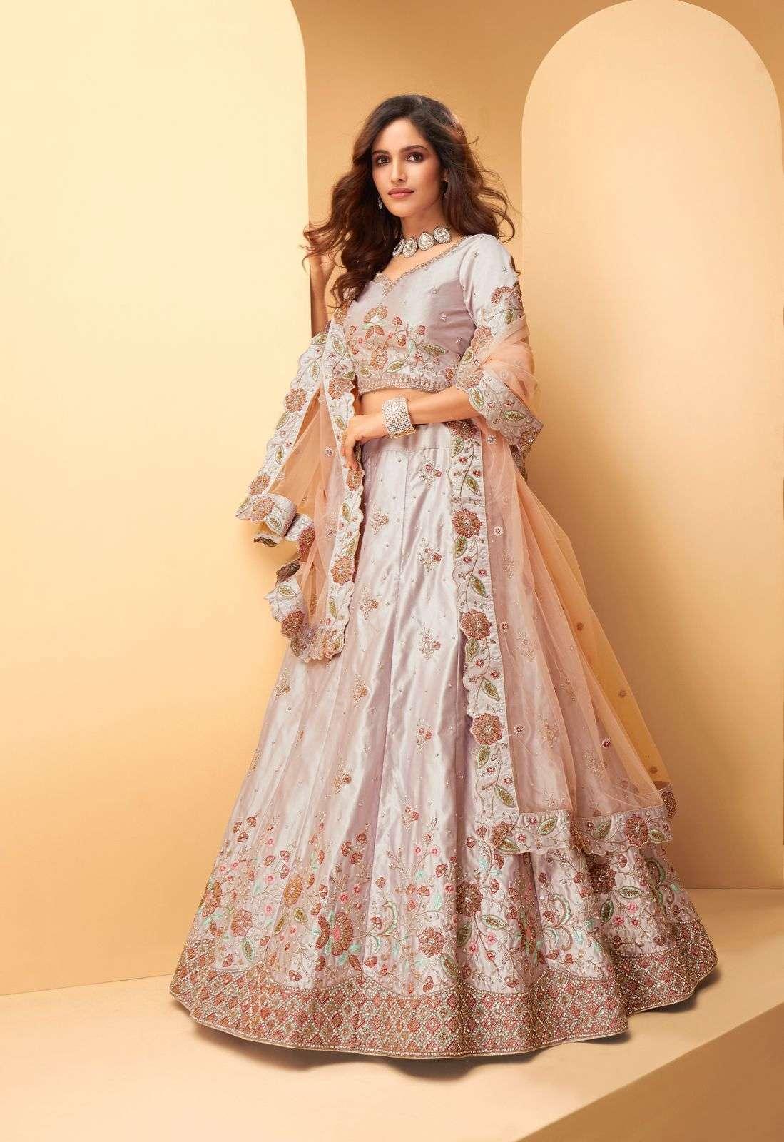 Alizeh Sangeet Vol 2 Silk With Embroidery Thread Work Designer Lehenga Choli Collection  1026
