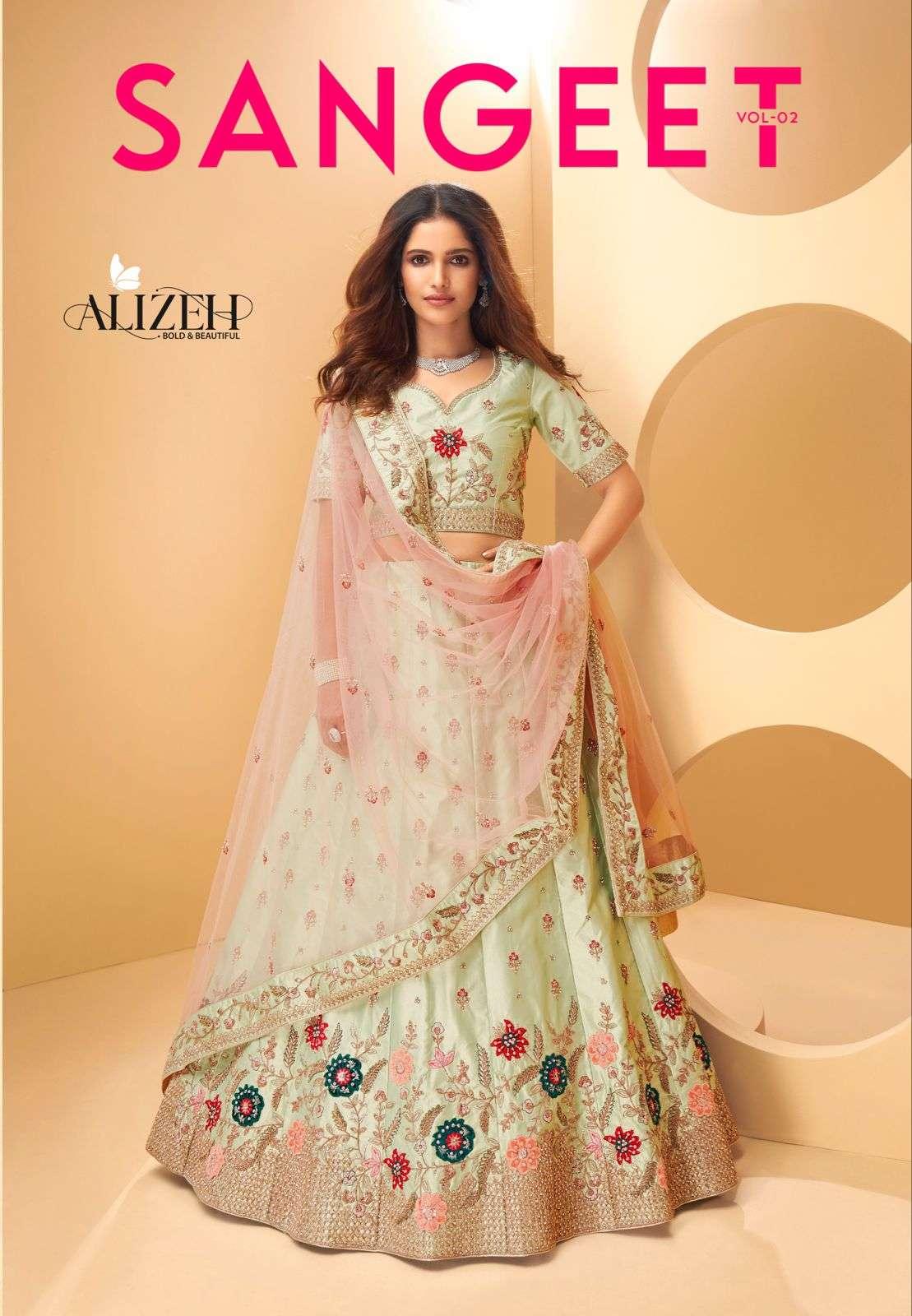 Alizeh Sangeet Vol 2 Silk With Embroidery Thread Work Designer Lehenga Choli Collection