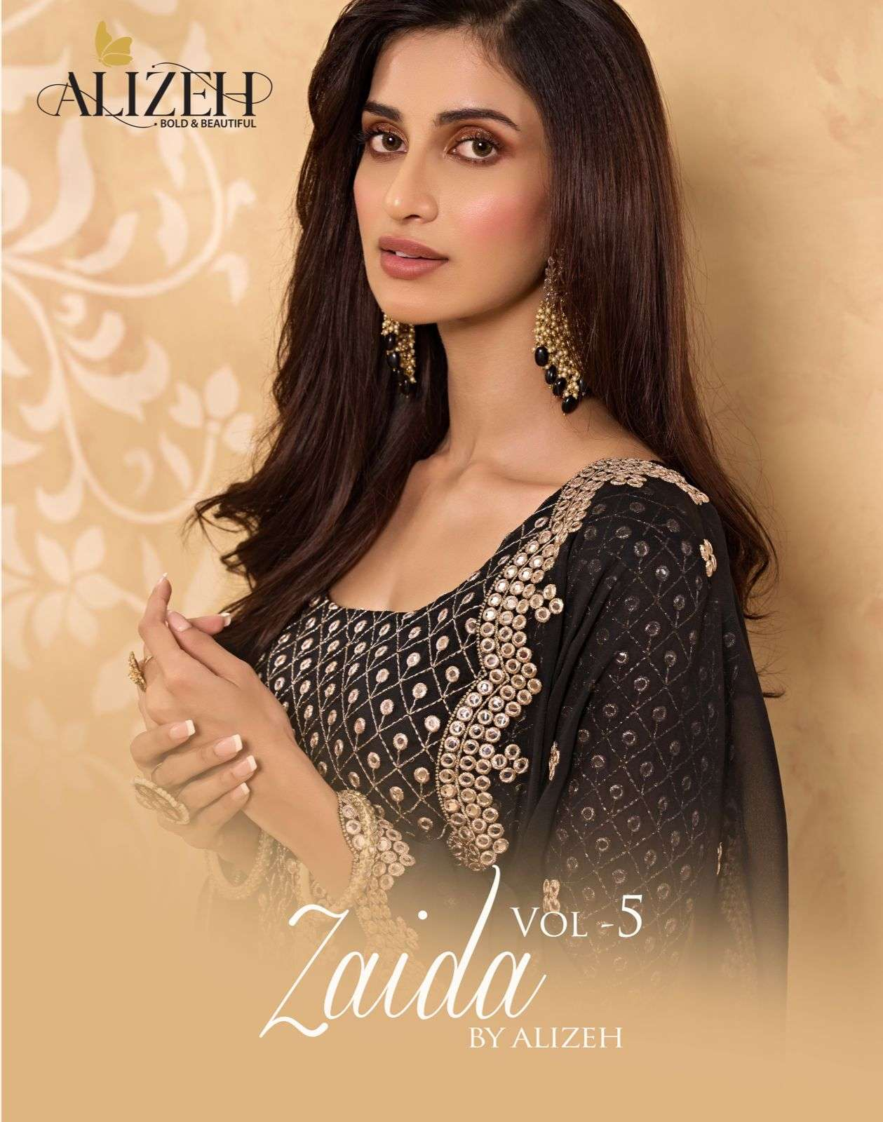 Alizeh Zaida Vol 5 Georgette With Fancy Work readymade Sharara Collection