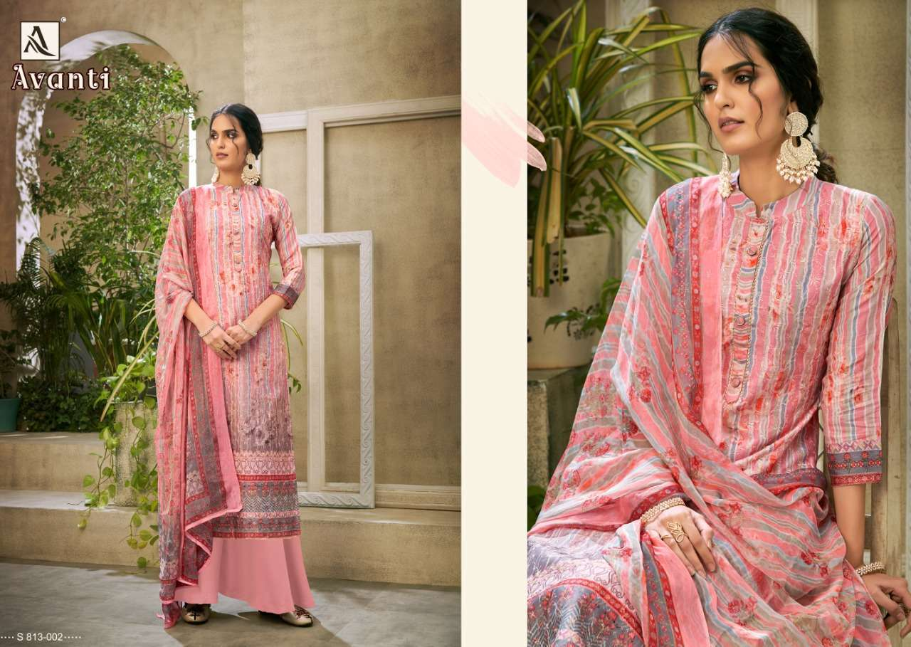 Alok Suits Avanti Jam Digital Print With Embroidery Work Dress Material Collection 02