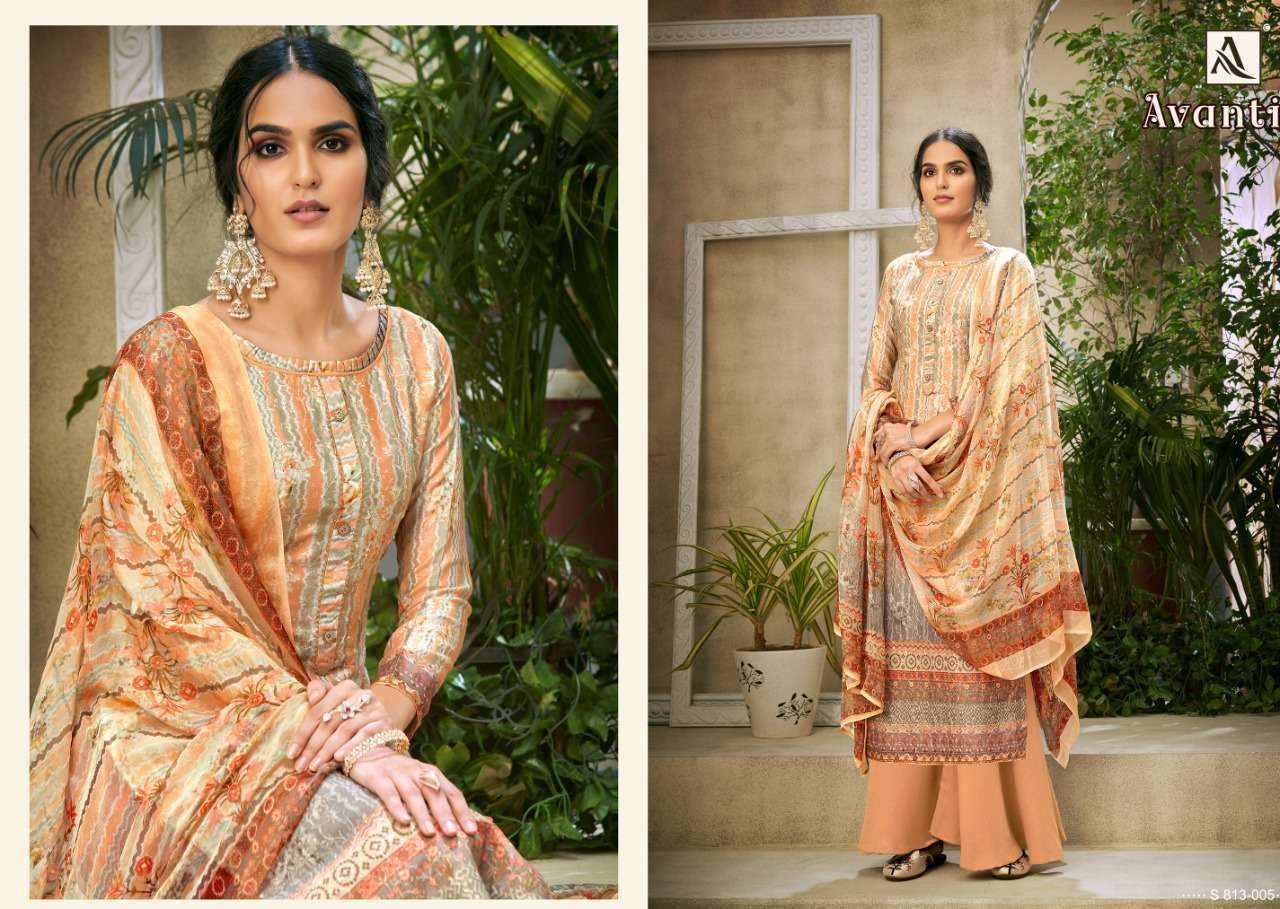 Alok Suits Avanti Jam Digital Print With Embroidery Work Dress Material Collection 03
