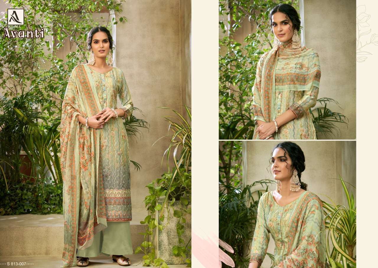Alok Suits Avanti Jam Digital Print With Embroidery Work Dress Material Collection 05