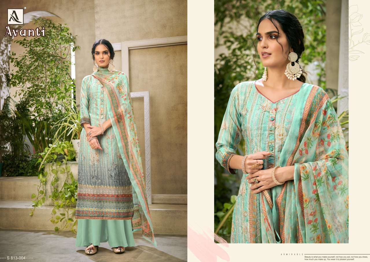 Alok Suits Avanti Jam Digital Print With Embroidery Work Dress Material Collection 06