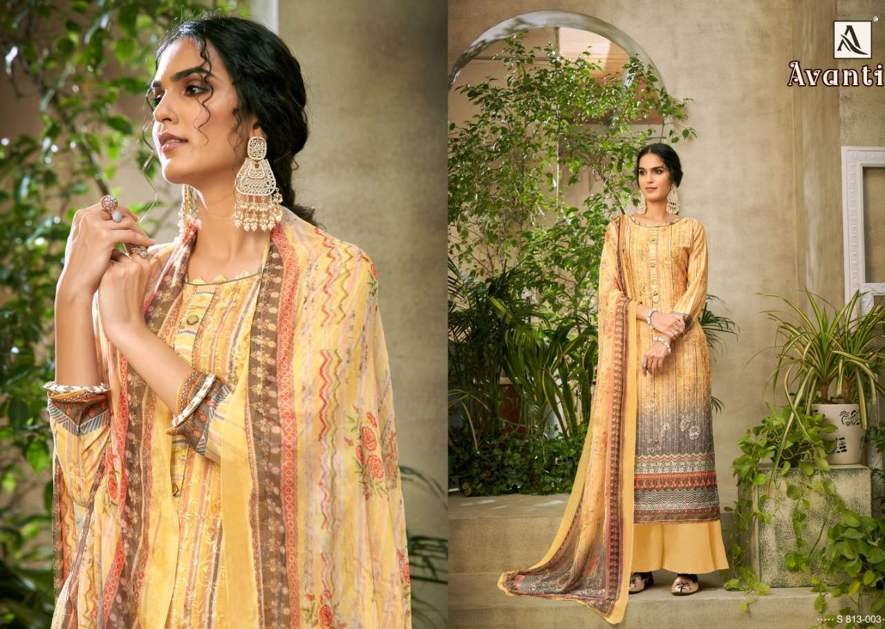 Alok Suits Avanti Jam Digital Print With Embroidery Work Dress Material Collection 07
