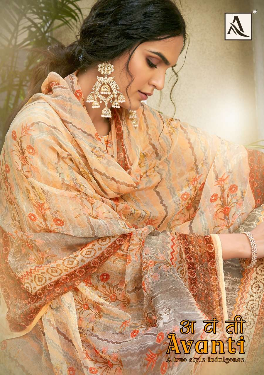 Alok Suits Avanti Jam Digital Print With Embroidery Work Dress Material Collection
