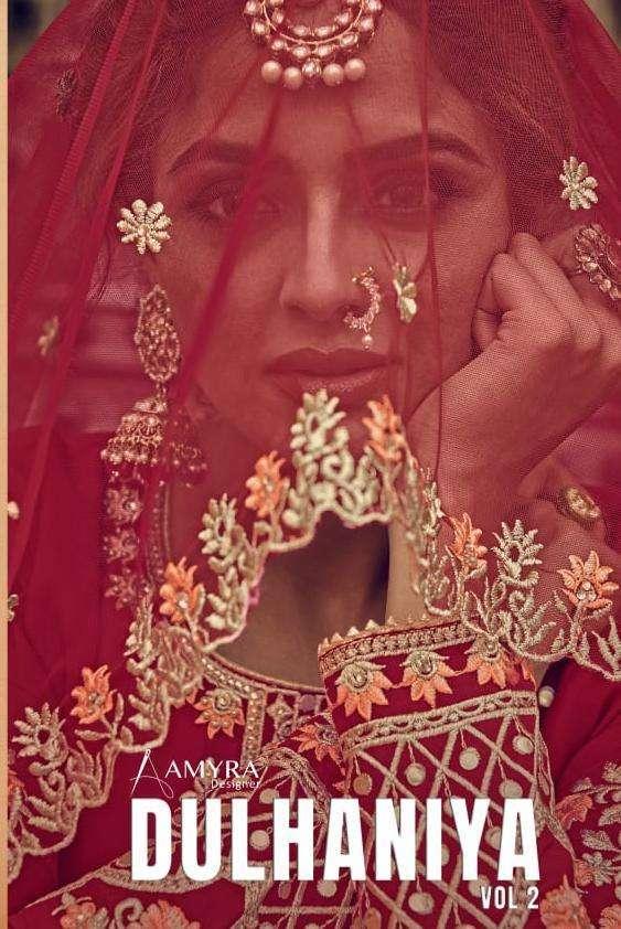 Amyra Designer Dulhaniya Vol 2 Georgette With Heavy Embroidery Work Salwar Kameez Collection