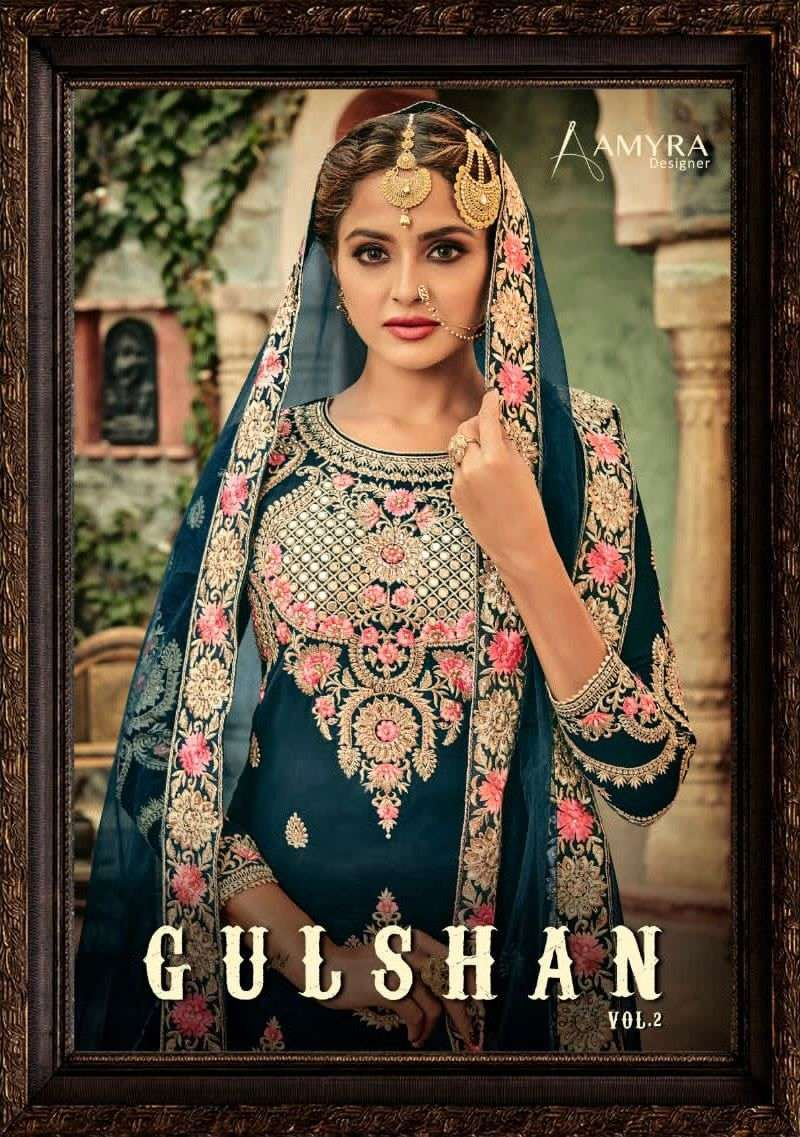 Amyra Designer Gulshan Vol 2 Georgette With Embroidery Work Salwar Kameez Collection