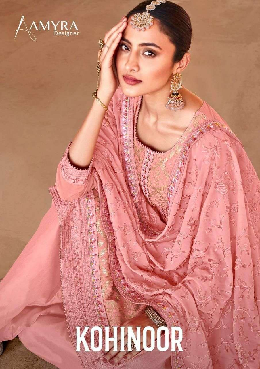 Amyra Designer Kohinoor Georgette With Embroidery Work Dress Material Collection