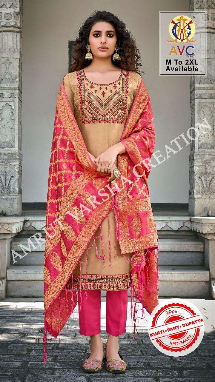 AVC Ayesha Modal With Work readymade Suits Collection