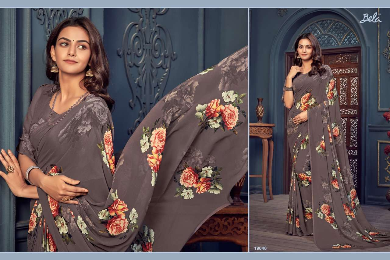 Bela Fashion Rosemary Vol 14 Georgette With Printed Sarees Collection 010