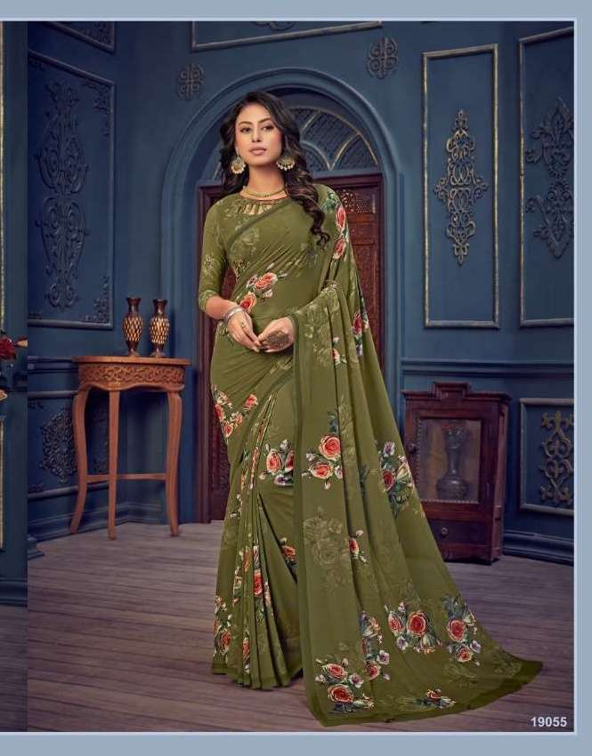 Bela Fashion Rosemary Vol 14 Georgette With Printed Sarees Collection 012