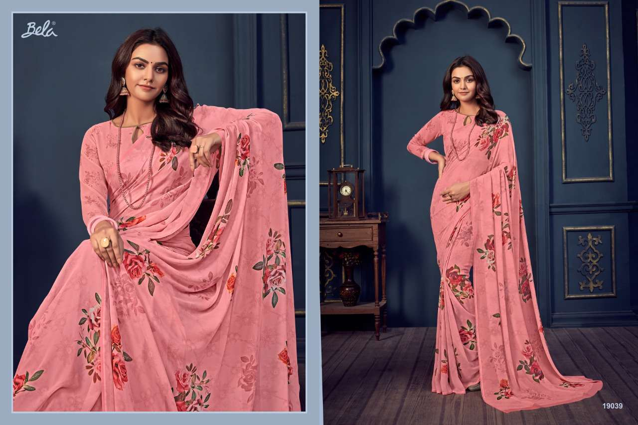 Bela Fashion Rosemary Vol 14 Georgette With Printed Sarees Collection 015