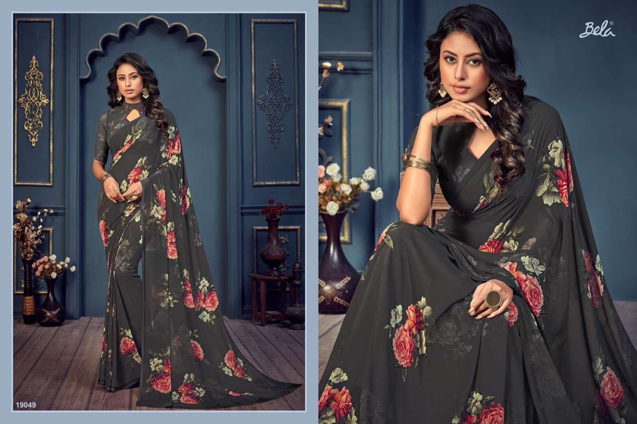 Bela Fashion Rosemary Vol 14 Georgette With Printed Sarees Collection 016