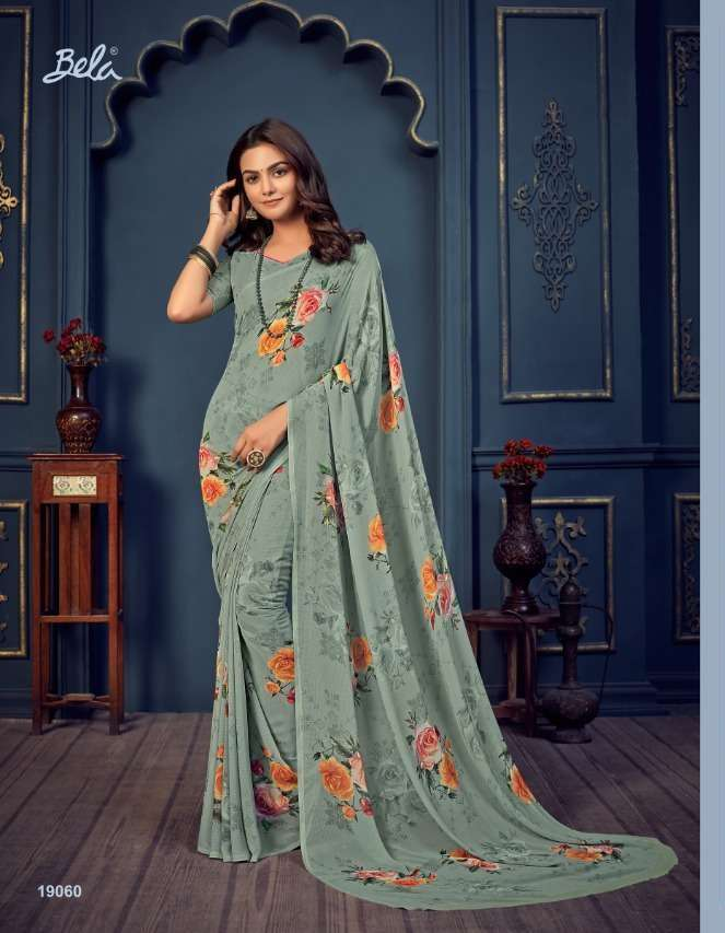 Bela Fashion Rosemary Vol 14 Georgette With Printed Sarees Collection 019