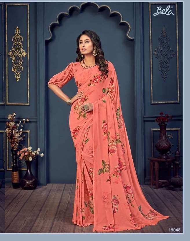 Bela Fashion Rosemary Vol 14 Georgette With Printed Sarees Collection 024