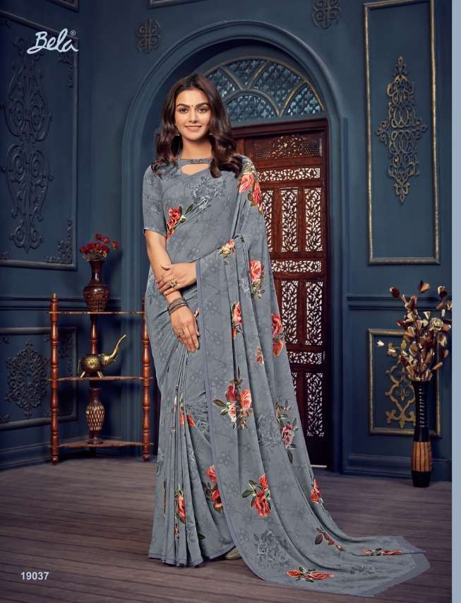 Bela Fashion Rosemary Vol 14 Georgette With Printed Sarees Collection 025