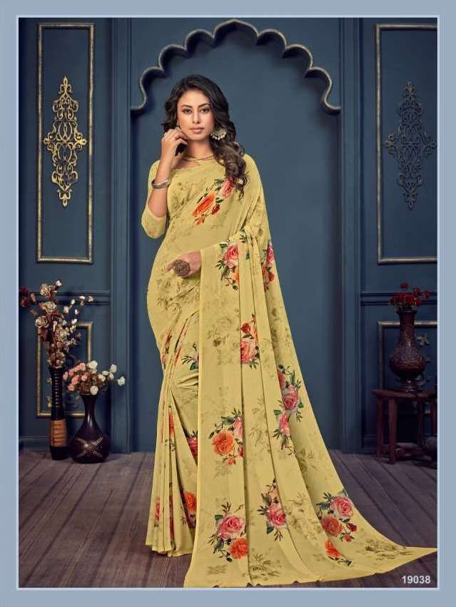 Bela Fashion Rosemary Vol 14 Georgette With Printed Sarees Collection 026