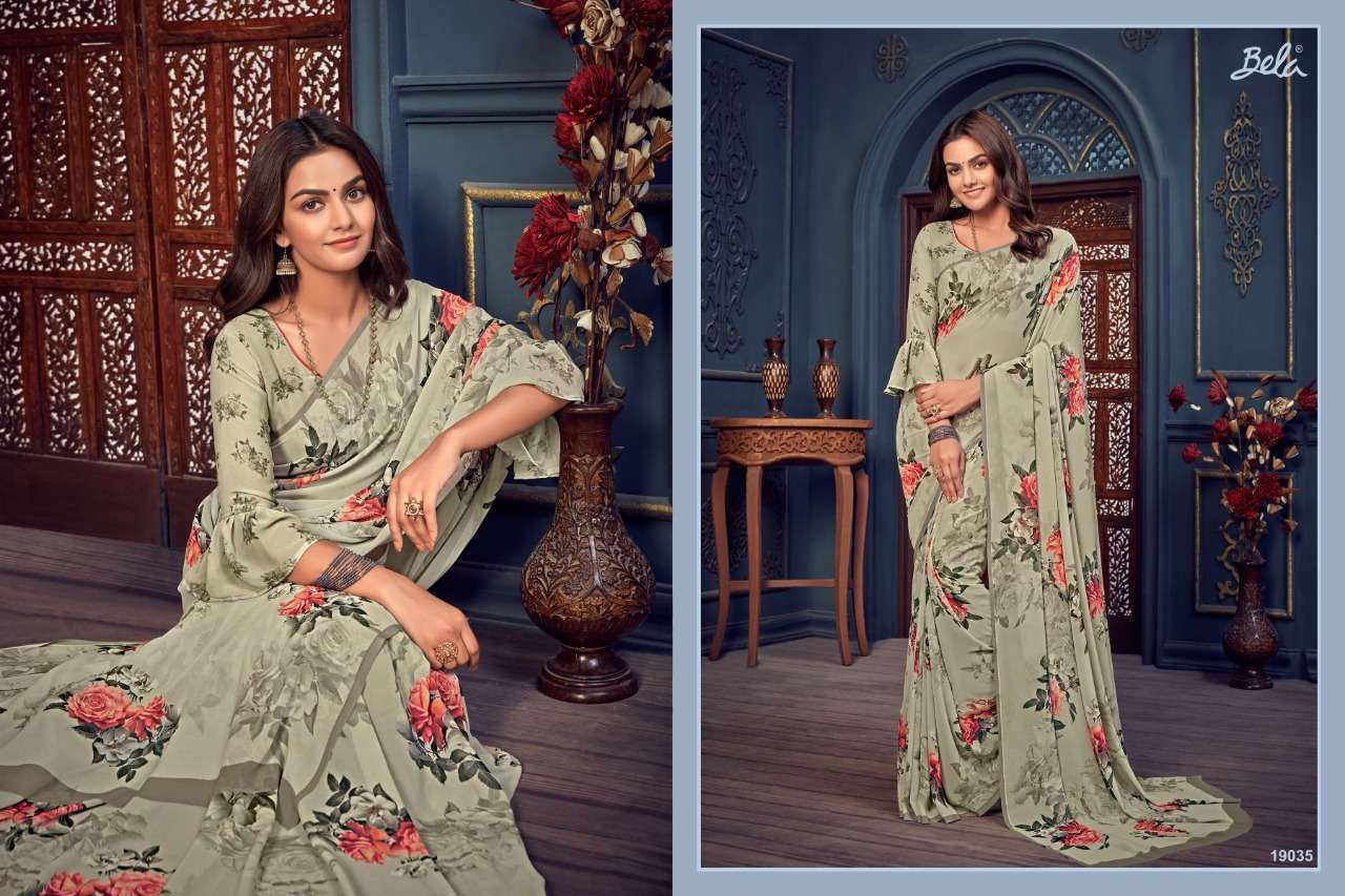 Bela Fashion Rosemary Vol 14 Georgette With Printed Sarees Collection 027