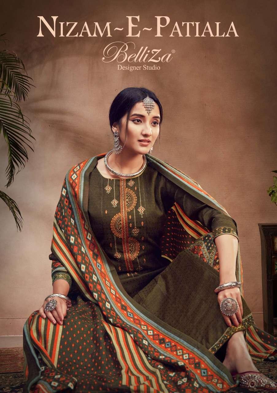 Belliza Designer Studio Nizam E Patiala Vol 3 Pashmina Print With Kashmiri Work Dress material Collection