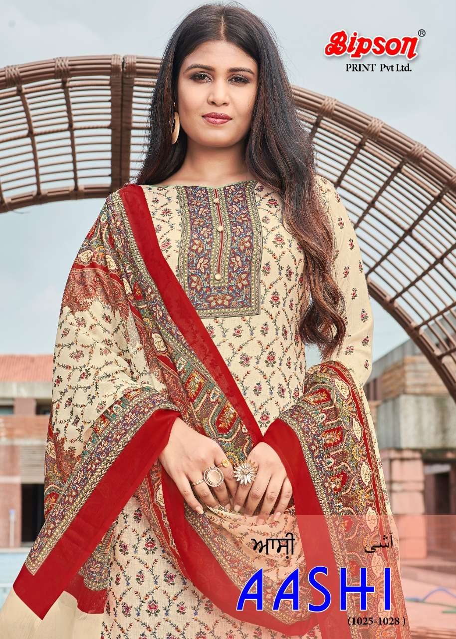 Bipson Fashion Aashi 1025-1028 Series Woolen Pashmina Digital print Pashmina Suits Collection