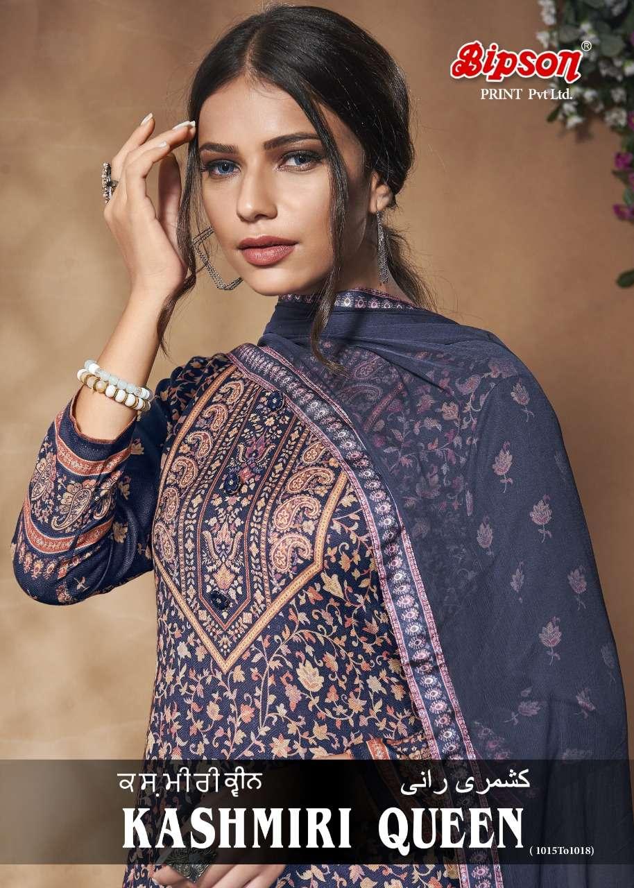 Bipson Fashion Kashmiri Queen 1015-1018 Series Woolen Pashmina Digital Print Suits Collection
