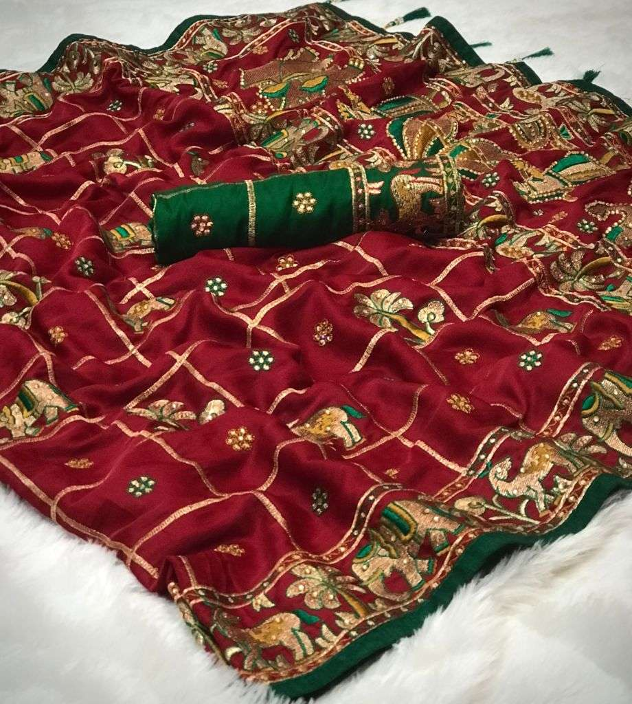 Bridal Rubby Silk Designer Saree Collection 02