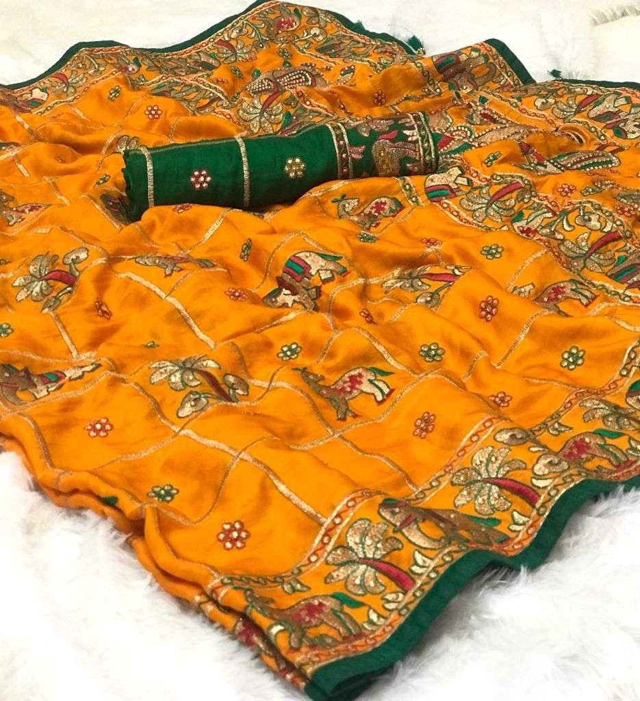 Bridal Rubby Silk Designer Saree Collection 04