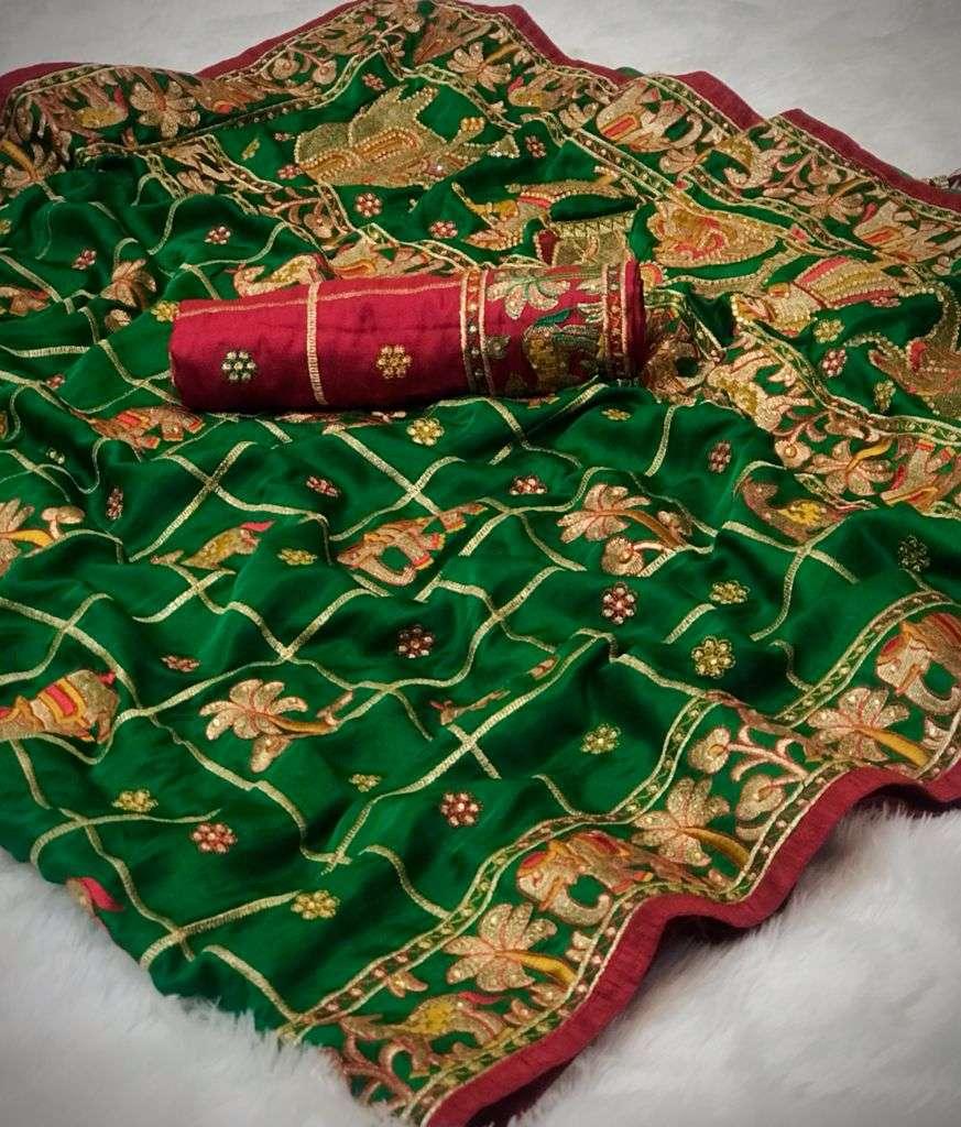 Bridal Rubby Silk Designer Saree Collection 05