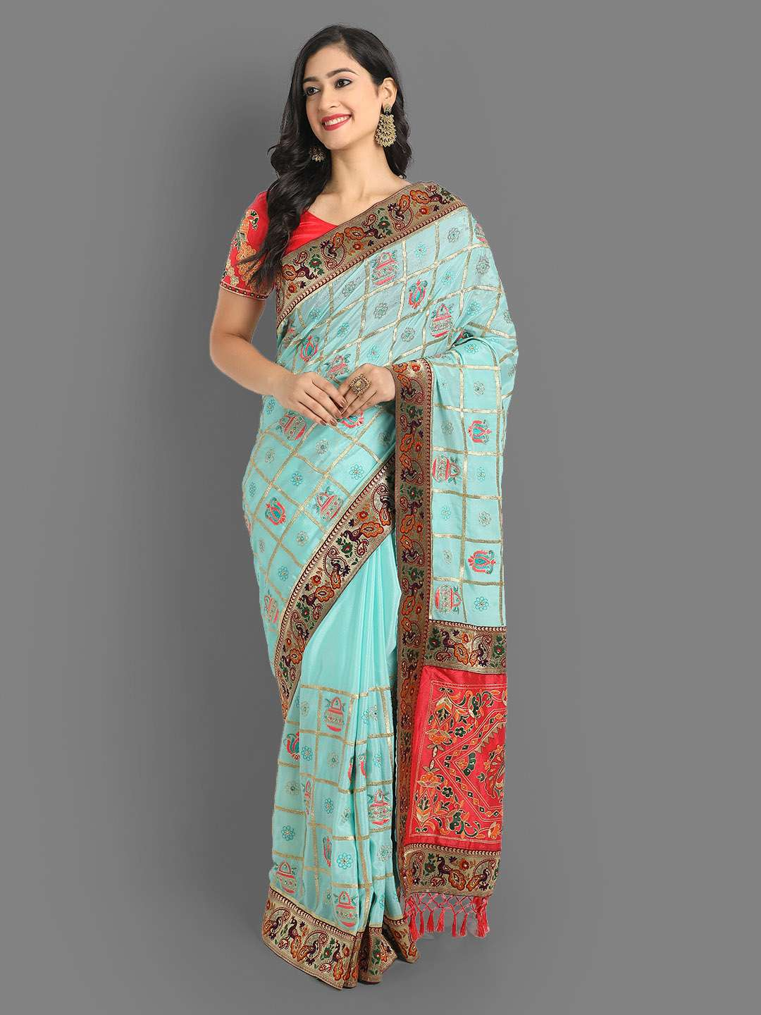 Chinnon silk designer party wear sarees at wholesale