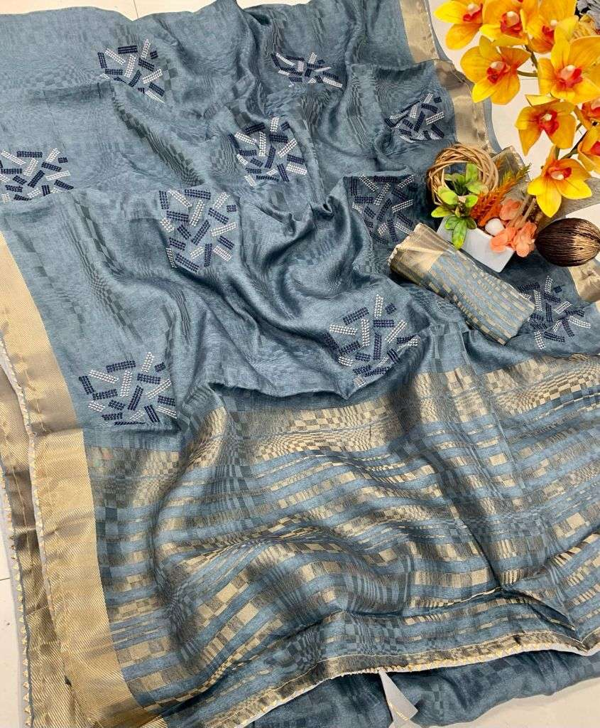 COTTON WITH JAQUARD WEAVING PARTY WEAR SAREE COLLECTION