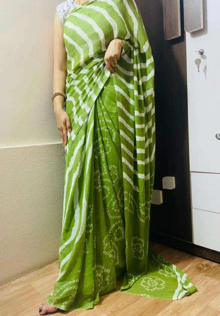 Daily Wear Fancy Bandhani Lehariya Sarees Collection 02