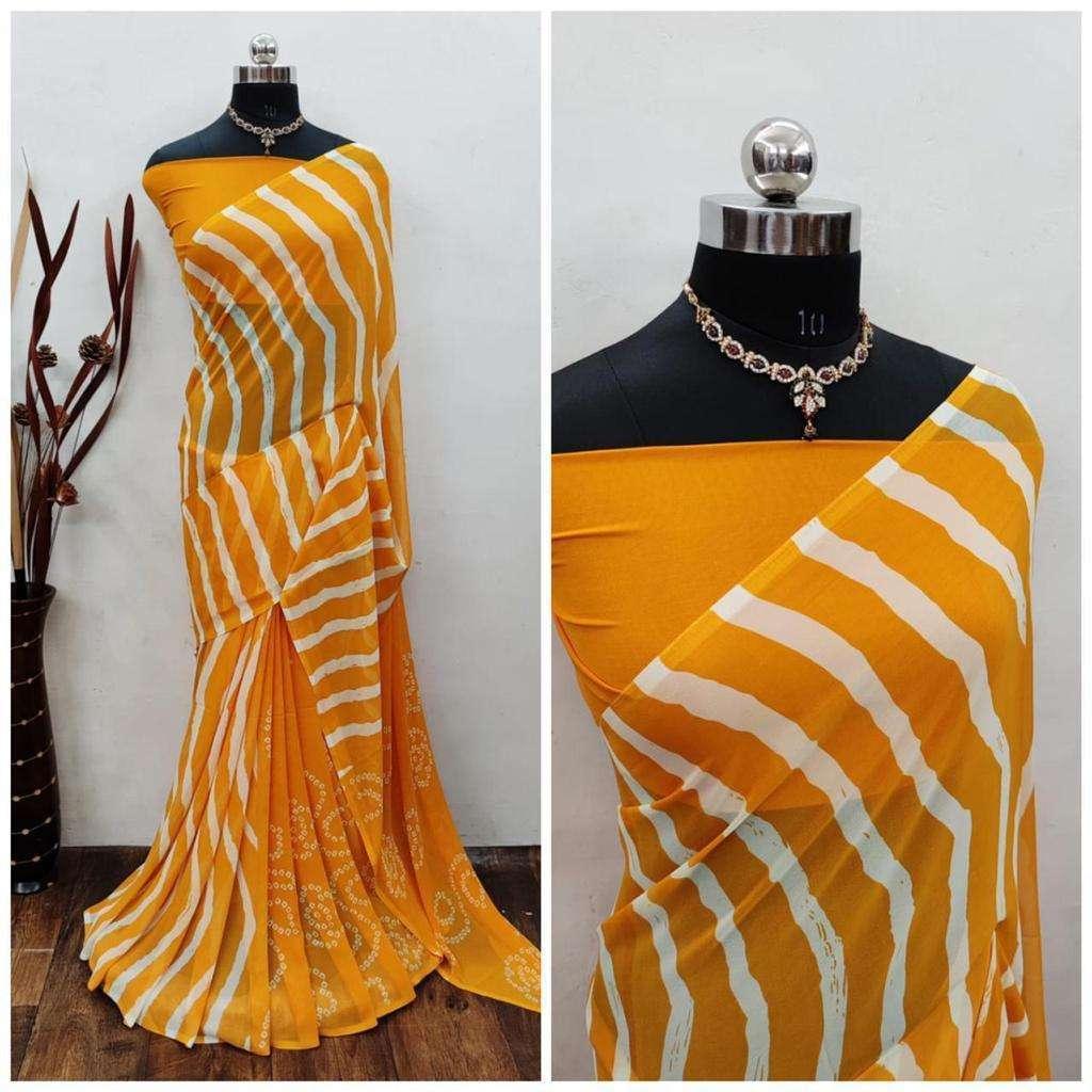 Daily Wear Fancy Bandhani Lehariya Sarees Collection 04
