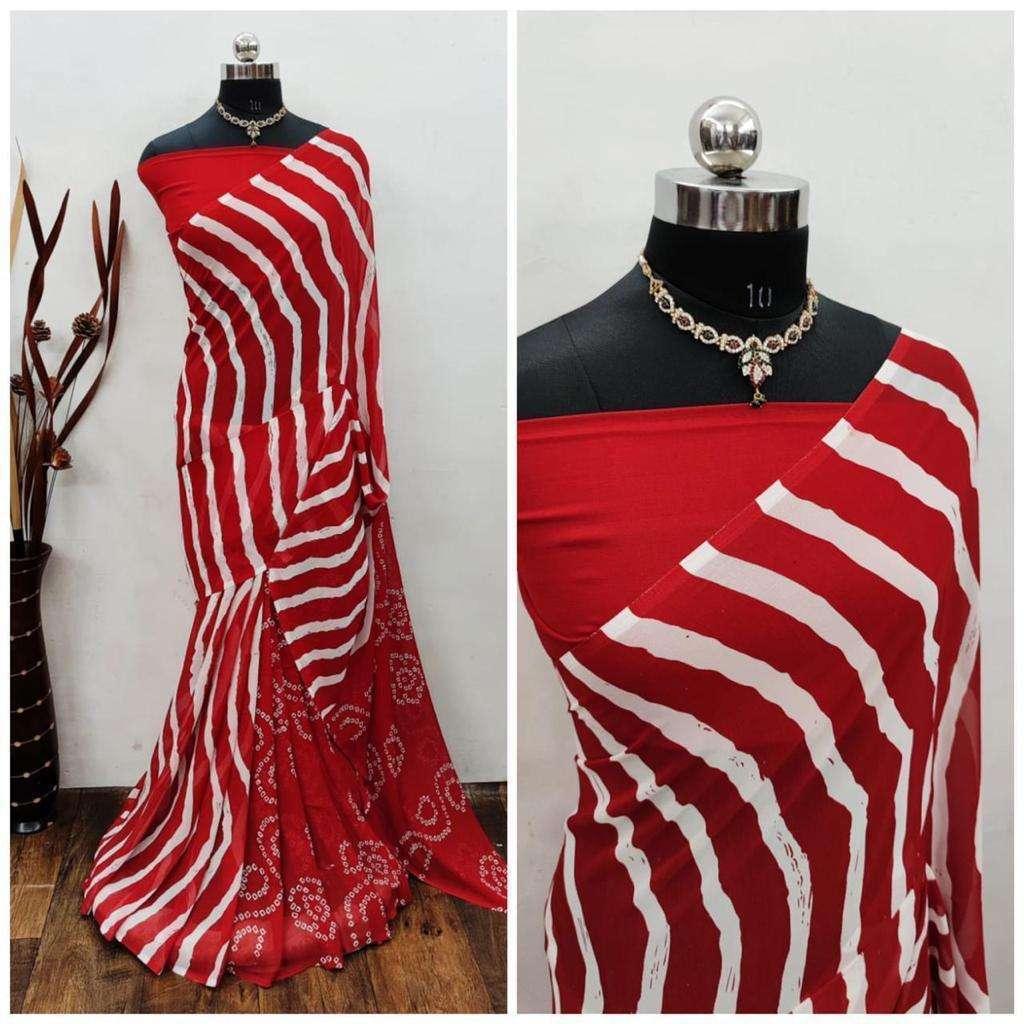 Daily Wear Fancy Bandhani Lehariya Sarees Collection 05