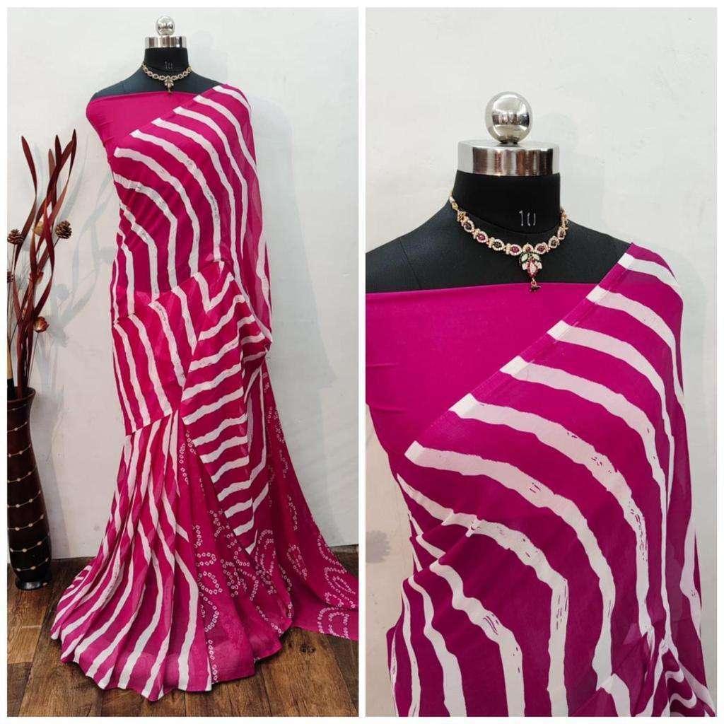 Daily Wear Fancy Bandhani Lehariya Sarees Collection 06