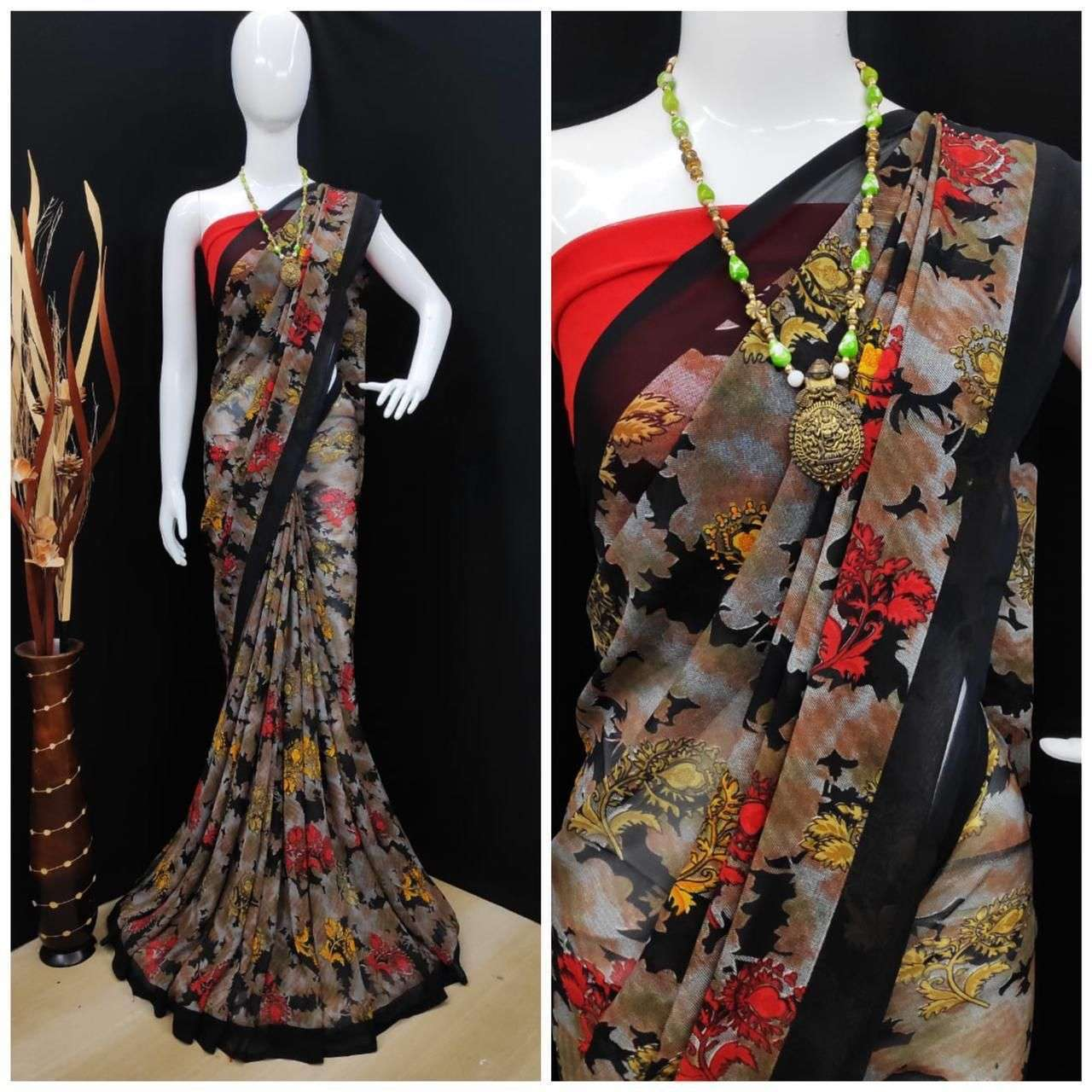 Daily Wear Weightless Fancy Printed Saree Collection 01
