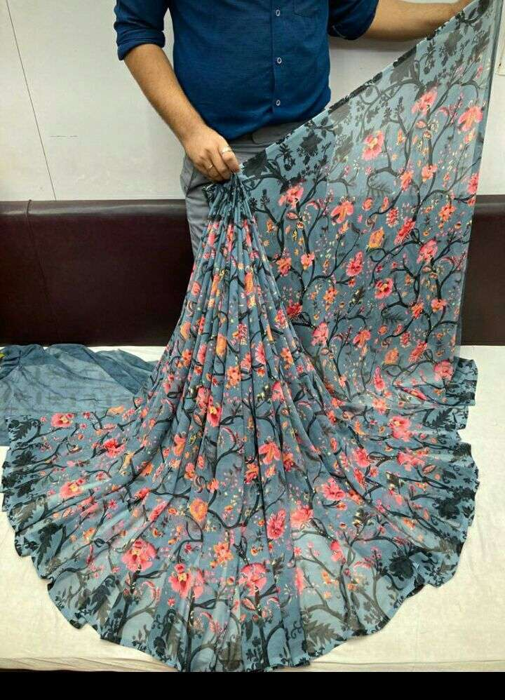 Daily Wear Weightless Fancy Printed Saree Collection 02