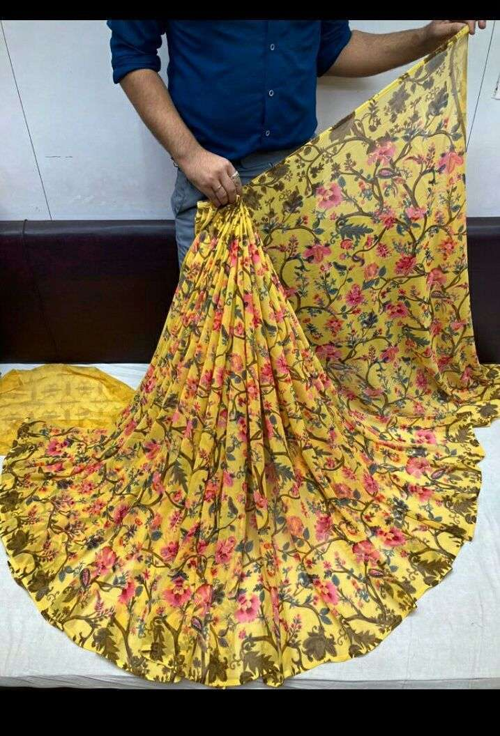 Daily Wear Weightless Fancy Printed Saree Collection 03